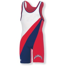 2 Color Contrasting Stripes- Custom Sewn Singlet