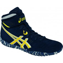Asics Aggressor 2 Adult Wrestling Shoes navy-sunflower-silver