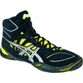 Asics Dan Gable Ultimate 3 Black-Silver-Yellow