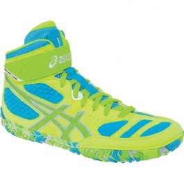 Asics Aggressor LE Adult Wrestling Shoes neon blast