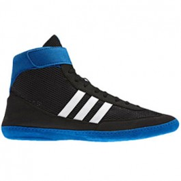 Adidas Combat Speed 4 Wrestling Shoes black-white-blue