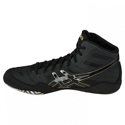 Asics JB Elite Adult Wrestling Shoes black-onyx-olympic gold.  86.95. Out  of stock ccc217e64