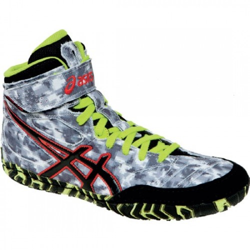 51bdf2c4dae3cf Asics Aggressor LE Adult Wrestling Shoes digital camo - Asics ...