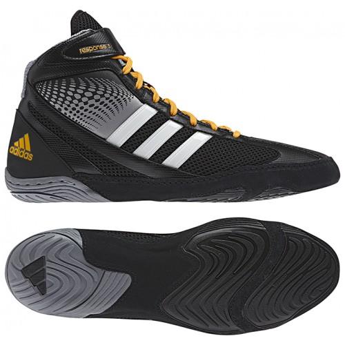 Mens Adidas Response 3 1 Wrestling Shoes Black