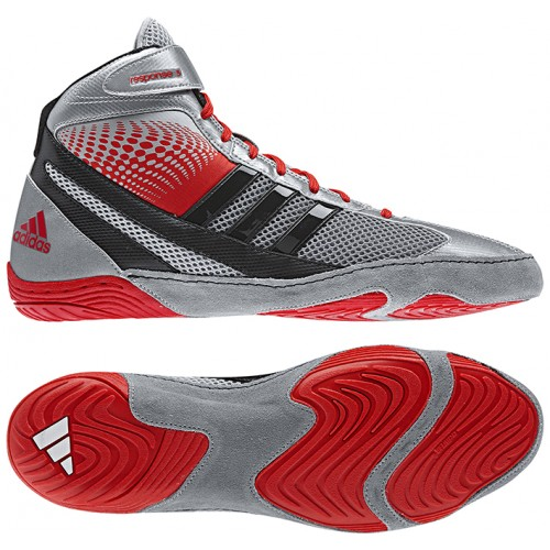 outlet store a50fb dbb97 ... top quality adidas response 3.1 wrestling shoes silver red black 8c70c  20c6a