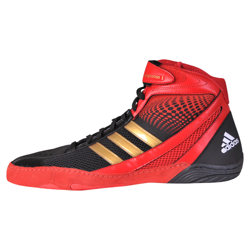 14ec092b59d ... hot adidas response 3.1 wrestling shoes black red gold. 79.95. out of  stock 95665