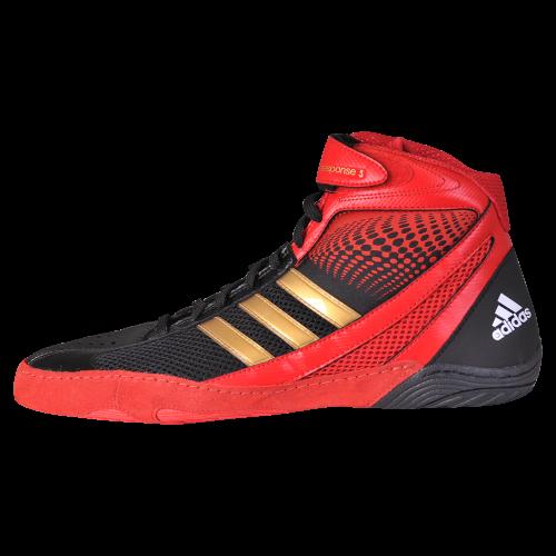 Adidas Response 3.1 Wrestling Shoes-black-red-gold - Adidas ...