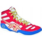 Asics JB Elite GS Youth Wrestling Shoes red-gold-white