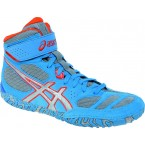 Asics Aggressor 2 Adult Wrestling Shoes blue-silver-redorange