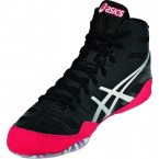 Asics JB Elite Adult Wrestling Shoes black-silver-red
