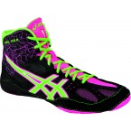 Asics Cael V6.0 Adult Wrestling Shoes black-green-pink