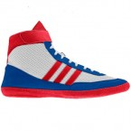 Adidas Combat Speed 4 Wrestling Shoes white-red-blue