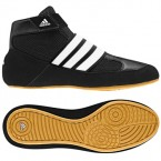 Adidas HVC Youth LACELESS Wrestling Shoes black-white-gum