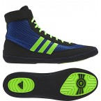 Adidas Combat Speed 4 Wrestling Shoes bahia blue-lime green-black