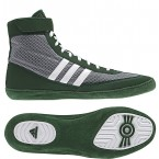 Adidas Combat Speed 4 Wrestling Shoes grey-dark green-white
