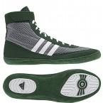 Adidas Combat Speed 4 Wrestling Shoes grey-dark green-white