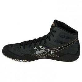 Asics JB Elite Adult Wrestling Shoes black-onyx-olympic gold
