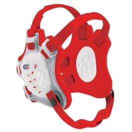 Cliff Keen Custom Tornado Headgear transparent/scarlet/scarlet