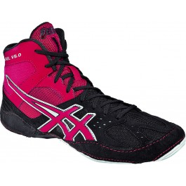 Asics Cael V6.0 Adult Wrestling Shoes charcoal-red-silver