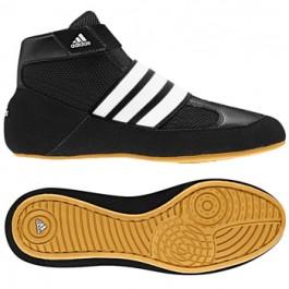 Adidas HVC Youth LACELESS Wrestling Shoes black-white-gum