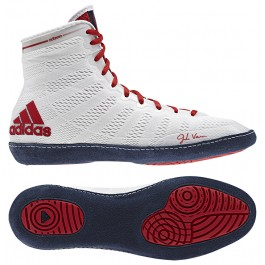 Adidas adizero Varner Wrestling Shoes white-navy-red